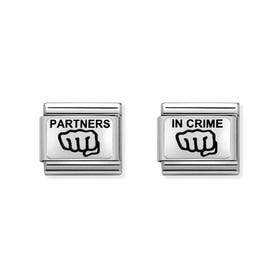 Classic Silver Partners In Crime Charm Set