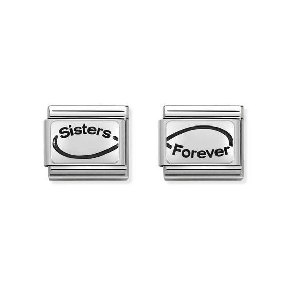 Classic Silver Sisters Forever Charm Set