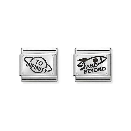 Classic Silver To Infinity & Beyond Charm Set