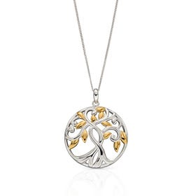 Meadow Silver & Gold Plated Tree Of Life Necklace