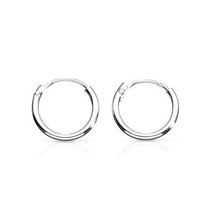 John Greed Cane Mini Silver Hoop Earrings
