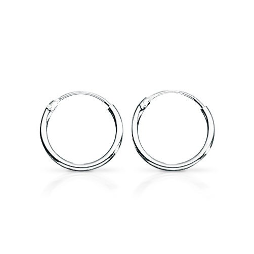 John Greed Cane Silver Hoop Earrings