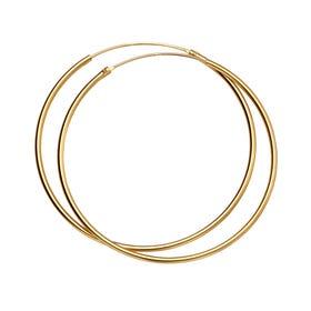 Anahita Gold Plated Silver Medium Hoop Earrings