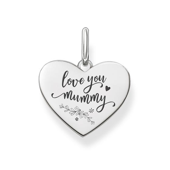 Love Coins Silver Love You Mummy Heart Pendant