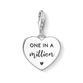 Silver One in a Million Heart Charm