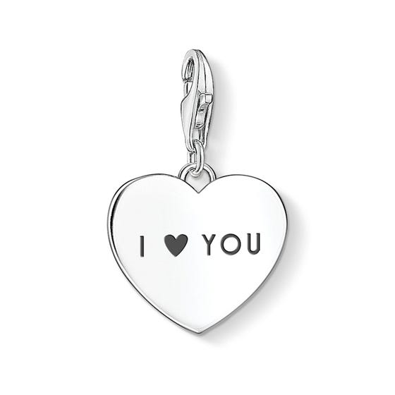 Silver I Love You Heart Charm