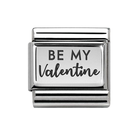 Classic Silver Be My Valentine Charm