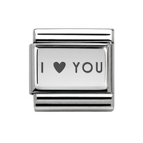 Classic Silver I Heart You Charm