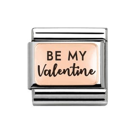 Classic Rose Gold Be My Valentine Charm