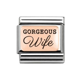 Classic Rose Gold Gorgeous Wife Charm