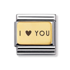 Classic Gold I Heart You Charm