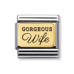 Classic Gold Gorgeous Wife Charm