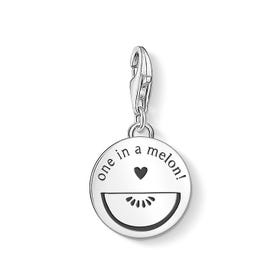 Silver One in a Melon Disc Charm