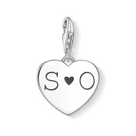 Silver Initials Heart Charm