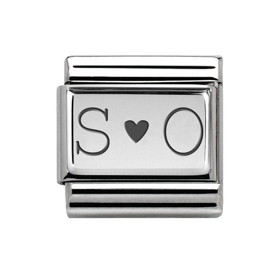 Classic Silver Initials Charm