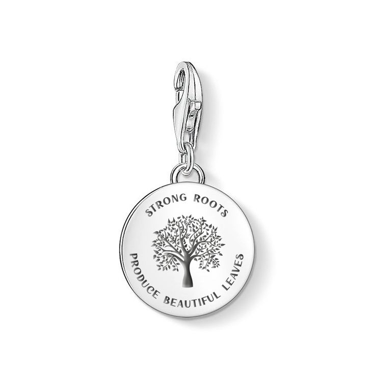 THOMAS SABO Silver Strong Roots Disc Charm