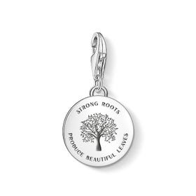 Silver Strong Roots Disc Charm
