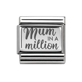 Classic Silver Mum in a Million Charm