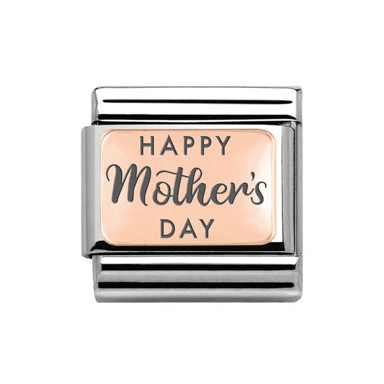 Classic Rose Gold Happy Mother's Day Charm
