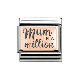 Classic Rose Gold Mum in a Million Charm