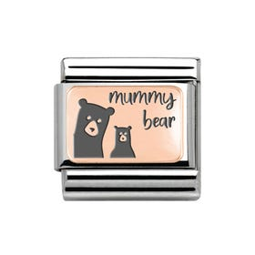 Classic Rose Gold Mummy Bear Charm
