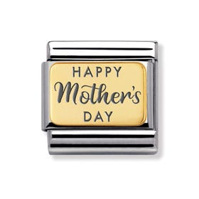 Classic Gold Happy Mother's Day Charm