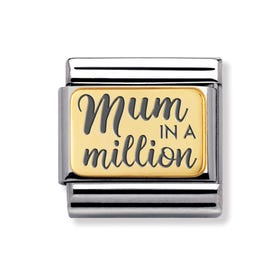 Classic Gold Mum in a Million Charm