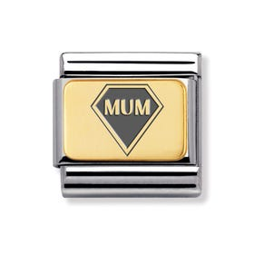 Classic Gold Mum Diamond Charm