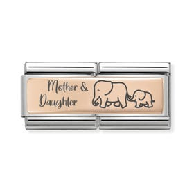 Classic Rose Gold Mother & Daughter Double Charm
