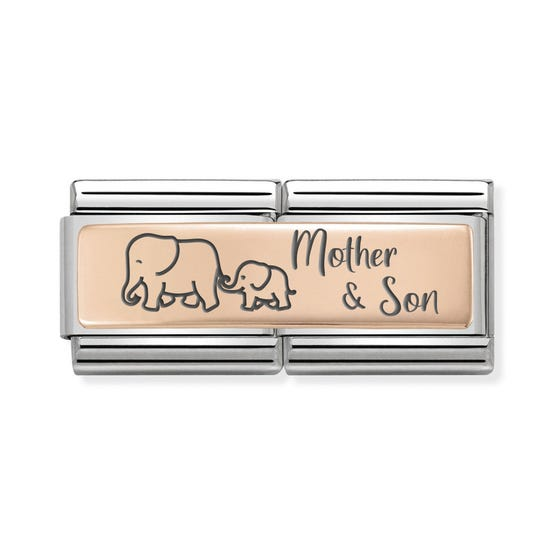 Classic Rose Gold Mother & Son Double Charm