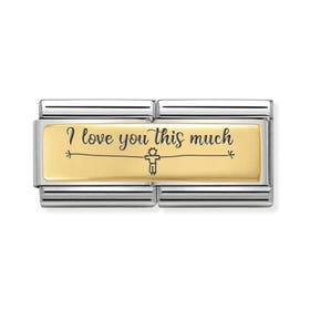 Classic Gold I Love You This Much (Boy) Double Charm