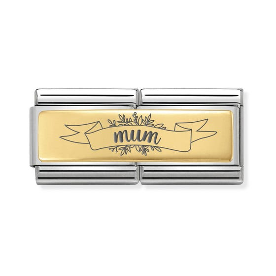 Classic Gold Mum Banner Double Charm