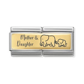Classic Gold Mother & Daughter Double Charm