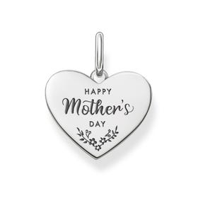Love Coins Silver Happy Mother's Day Heart Pendant