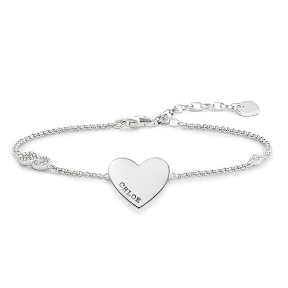 Silver Personalised Name Love Bridge Bracelet