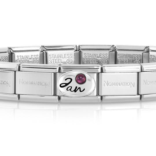 Classic Silver January Birthstone Bracelet