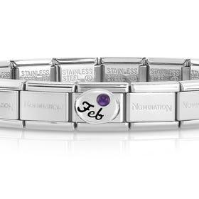 Classic Silver February Birthstone Bracelet