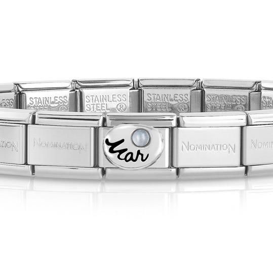 Classic Silver March Birthstone Bracelet