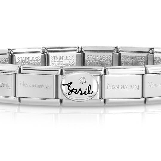 Classic Silver April Birthstone Bracelet