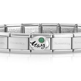 Classic Silver May Birthstone Bracelet
