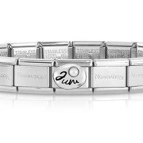 Classic Silver June Birthstone Bracelet