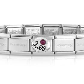 Classic Silver July Birthstone Bracelet