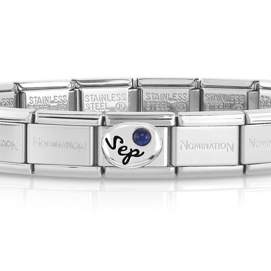 Classic Silver September Birthstone Bracelet