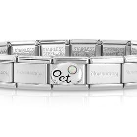 Classic Silver October Birthstone Bracelet