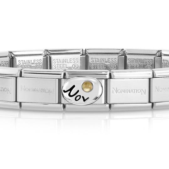 Classic Silver November Birthstone Bracelet
