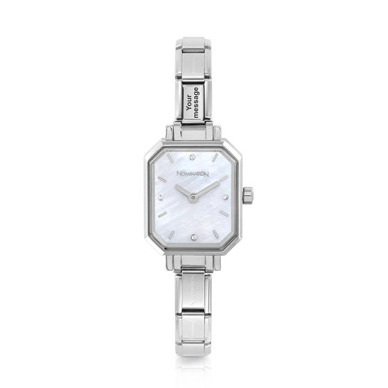 Classic Paris Mother of Pearl Dial Personalised Engraved Watch