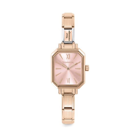 Classic Paris Rose Gold Plated Personalised Engraved Watch