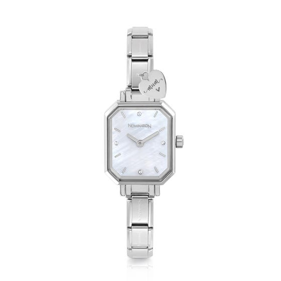 Classic Paris Mother of Pearl Dial Mum Engraved Watch