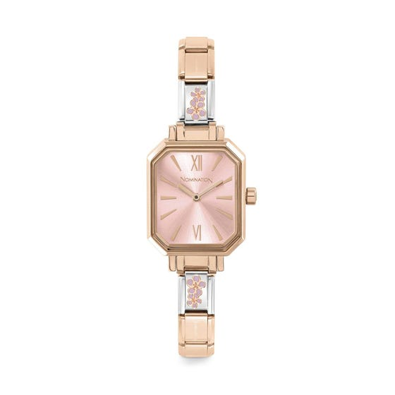 Classic Paris Rose Gold Plated Peach Blossom Watch