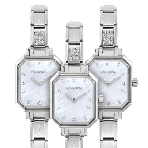 Classic Paris Mother of Pearl Dial CZ Birthday Age Watch